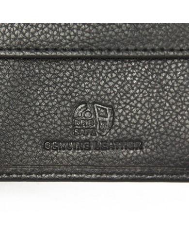 Borsa a tracolla in pelle nabuk con tasche, Gianni Chiarini made in Italy - Testa moro/Nero