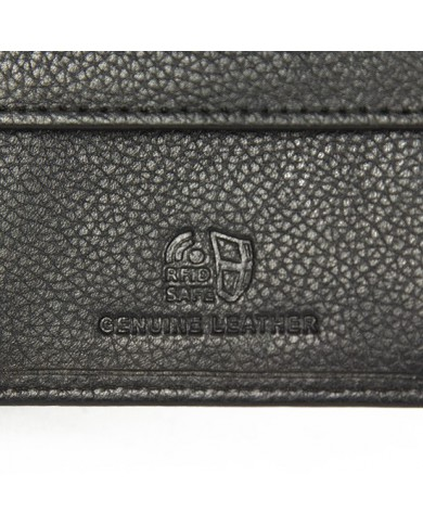 Clutch vintage leather with long shoulder strap, Gianni Chiarini Made in Italy - Dark Brown/Black