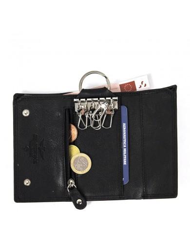 Borsa a tracolla in pelle con tasca, Gianni Chiarini made in Italy - Nero