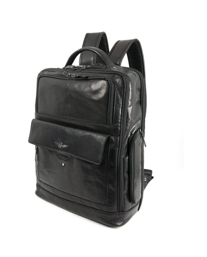 Gianni Chiarini Bag in leather and fabric Black/Multicolor