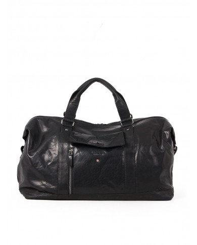 Leather bag with external pocket Gianni Chiarini, made in Italy - Black