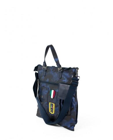 """Borsone bagaglio a mano pieghevole, in tessuto  e pelle, Bric's """"X-Travel"""" - Verde chiaro"""