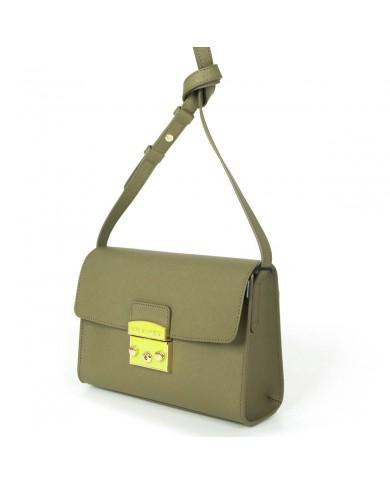 """Borsone bagaglio a mano pieghevole, in tessuto  e pelle, Bric's """"X-Travel"""" - Rosso/Cuoio"""