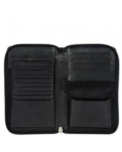 "Borsa uomo in tessuto e pelle con porta tablet 10"", Piquadro ""Orion W74"" - Nero"