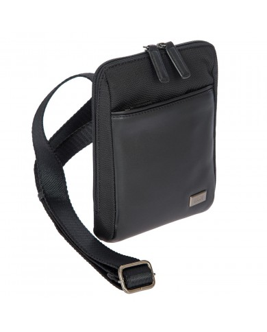"""Leather briefcase, expandable,with pocket for pc and tablet, Piquadro """"Vibe"""" - Tortora/Testa moro"""