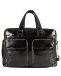 "Man Leather Bag with pocket for tablet, Piquadro ""Pulse"""