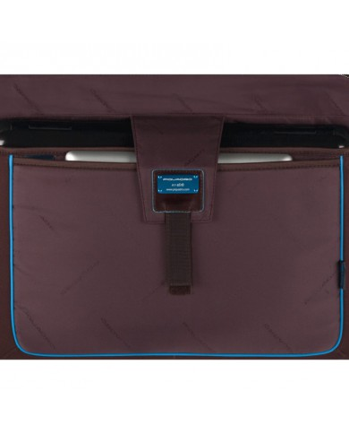 "Messenger in technical fabric and leather, with compartment for computer ,Piquadro ""Link"""