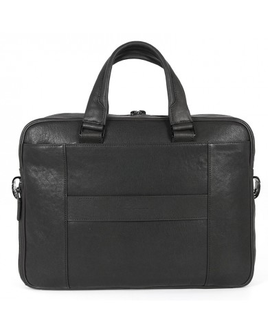 Saffiano leather briefcase with compartment for PC and tablets, Piquadro line Ersilia W61