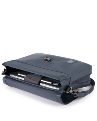 """Briefcase with two handles technical fabric and leather, with compartments for PC and tablet 7 """", Piquadro """" Trude W57 """""""
