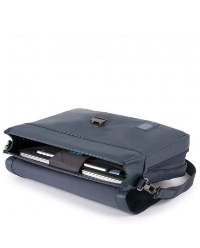 """Cartella due manici in tessuto e pelle, con porta pc e porta tablet 7"""", linea """"Trude W57"""""""