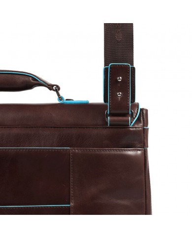 """Cartella 2 manici in tessuto e pelle, con porta notebook e porta tablet, linea """"Signo"""""""