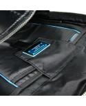 """Borsello grande in tessuto e pelle, con tasca per tablet, Piquadro """"Trude W57"""""""