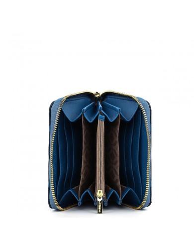 Sciarpa uomo bicolore, Piquadro made in Italy - Dark brown/Blue