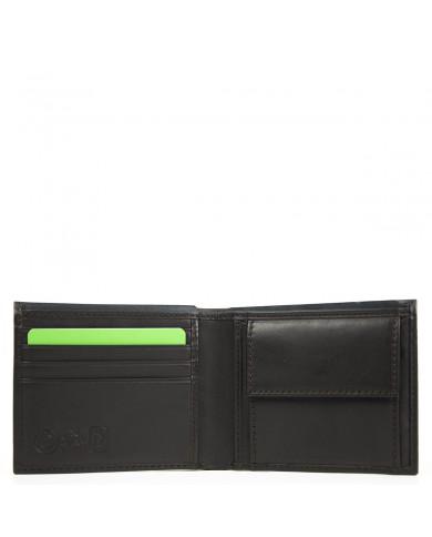 Leather handbag with multicolor shoulder strap , Gianni Chiarini made in Italy - Nero