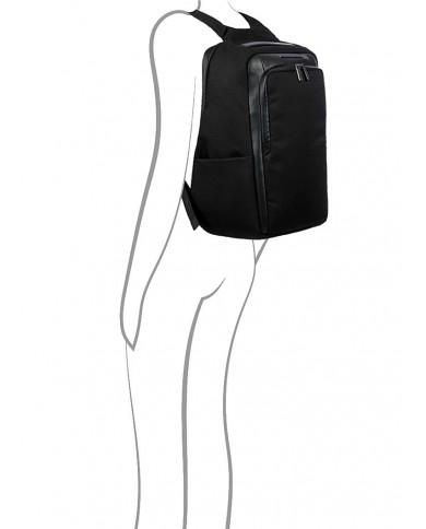 """Pilotina in tessuto e pelle  con porta pc 15,6"""" e tasca per tablet , Piquadro """"Yukon S89 - Blu Avio"""