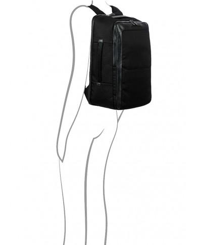 """Cartella in tessuto con tasca per pc 15"""" , Piquadro """"Yukon S89 - Antracite/Nero"""