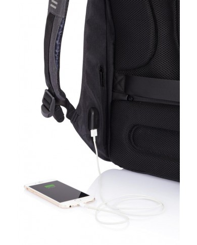 """briefcase made with fabric and leather, with compartments for pc 15,6""""and tablet, Piquadro """"P16"""" - Black/Dark Grey"""