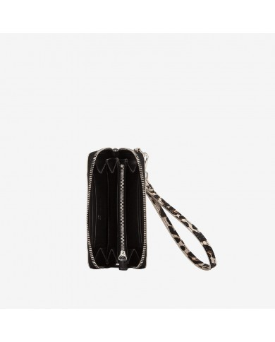 """Leather handbag, decorated with ruches,   Blumarine """"Charlotte"""" made in Italy - Black/Phard"""