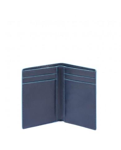 """Borsa uomo grande in pelle, con tasca per tablet 9,7"""", Piquadro """"Blue square - Blu"""