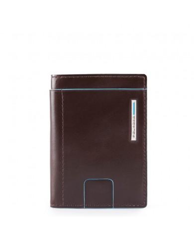 """Borsa uomo grande in pelle, con tasca per tablet 9,7"""", Piquadro """"Blue square - Nero"""