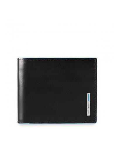 Borsa donna a tracolla in pelle, con pochette estraibile in tessuto, Gianni Chiarini made in Italy - Azzurro