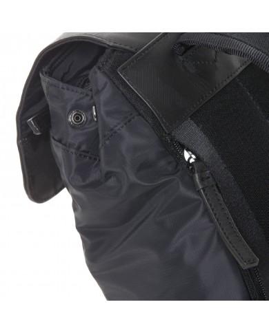 Cintura uomo in pelle cm 3,5 , con decoro su puntale Piquadro, made in Italy - Nero/Antracite