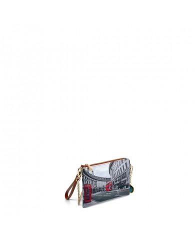 "Women's bag with detachable shoulder, La Martina ""New Martinez - Giallo/Beige"