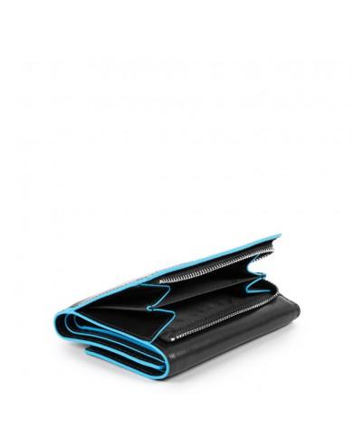 """Porta fogli uomo in pelle Piquadro, con porta documenti, linea """"Blue square"""" - Grigio"""