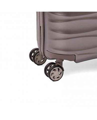 """Trolley bagaglio a mano con tasca per pc 17,3"""" e tablet, Piquadro """"Coleos - Nero/Antracite"""