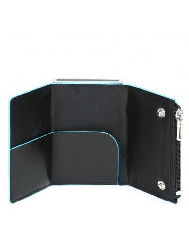 Borsa a tracolla con dettagli in pelle stampa rettile, Gianni Chiarini made in Italy - Nero/Blu