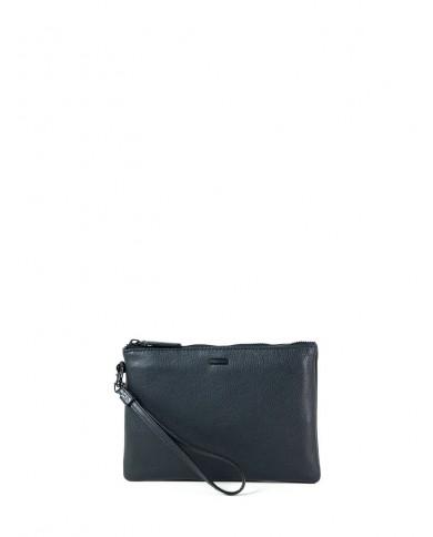 "Leather shopping bag , Roberto Cavalli Class ""Pantera nera"" - Black"